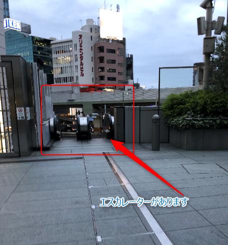 六本木駅エスカレーター