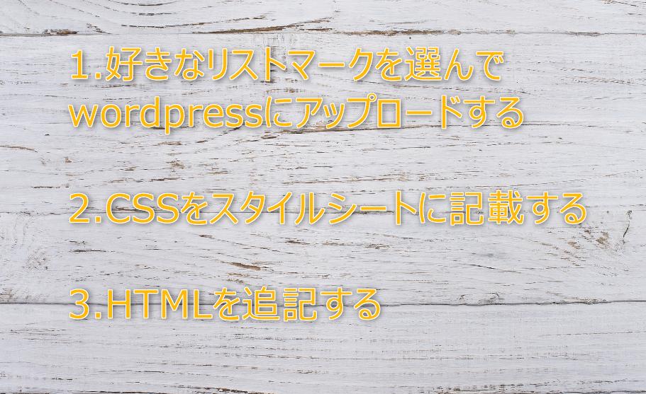 リストマーク変更する手順まとめ記載したホワイトボード