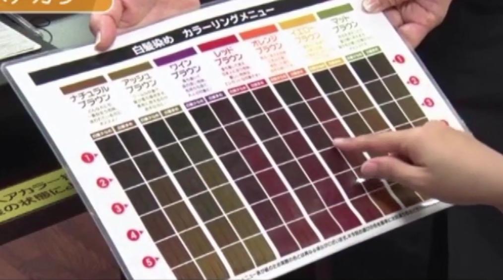クイックカラーQ カラー表