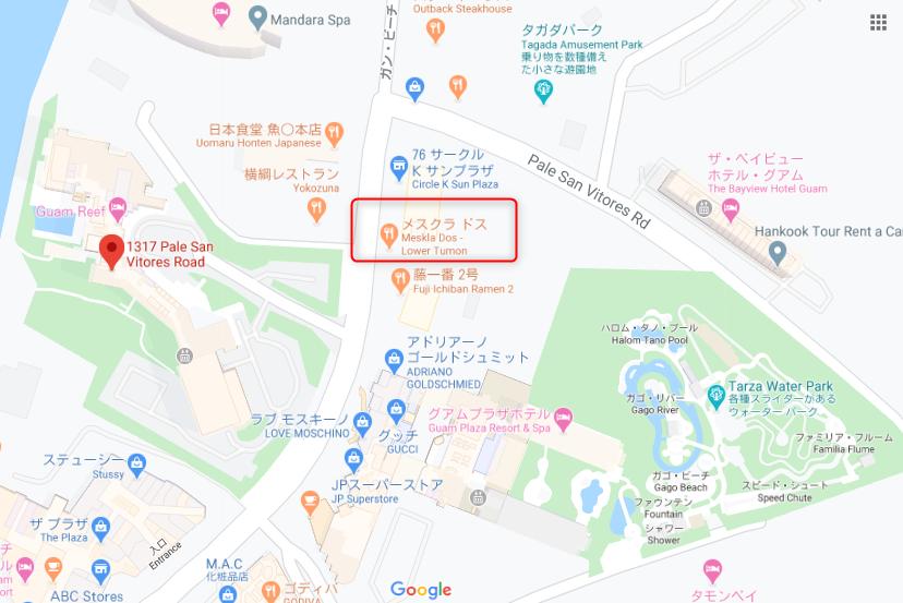 メスクラドス2号店 グーグルマップ