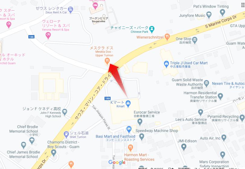 グアムメスクラドスのグーグルマップ