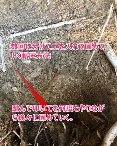 掘った地面