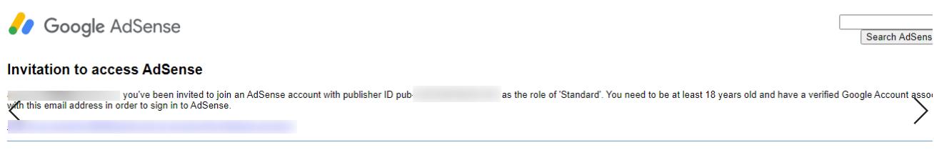 Googleアドセンス招待英文メール