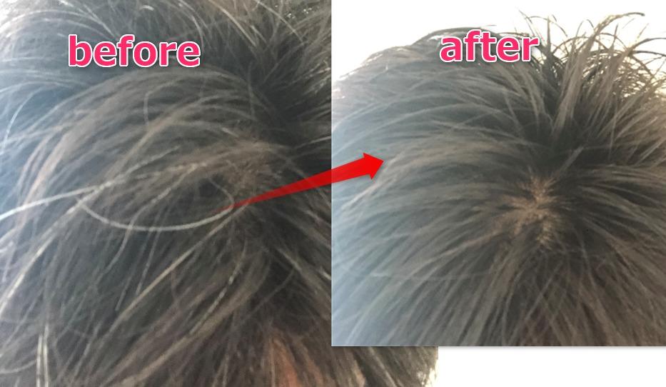 白髪染めsyoss使用後の髪の毛