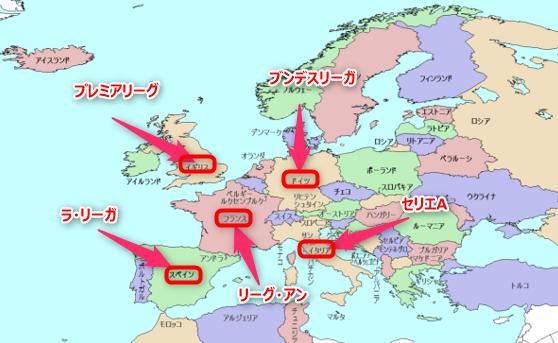 欧州5大リーグ